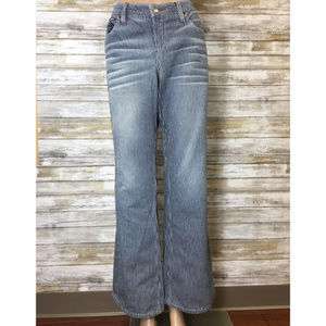 Vintage 90's l.e.i pinstripe flared jeans size 13